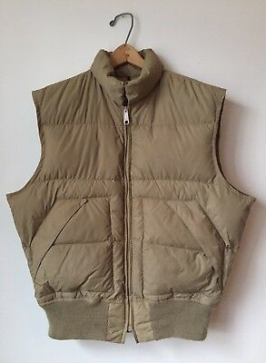 Vintage Schott NYC Goose Prime Down Quilted Puffer Vest Made In USA Sz L