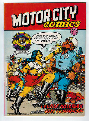 Motor City Comics #1 6.5 2Nd Print Crumb 1969 Off-White Pages