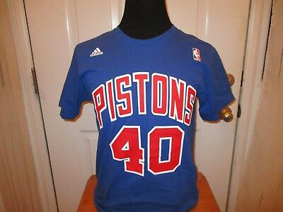 Brand New Detroit Pistons Bill Laimbeer   40 Adidas Authentic Men s Size  Shirt f7bc25d87