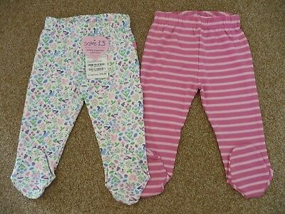 JoJo Maman 6-12 Months New Pretty Leggings with Feet Baby Girl Trousers 6-9 9-12
