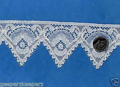 """Antique English Lace Insertion Aged WHITE 3//8/"""" BTY  Dolls// Bears// Smocking NEW"""