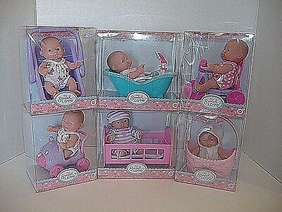 "NEW Set of 6 Berenguer Dolls Lots To Love Babies 5"" Mini Nursery PlaySets"