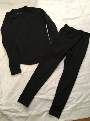 LL Bean Kids Size 6 Or 8 Wicked Warm Thermal Base Layer  Long Underwear Black
