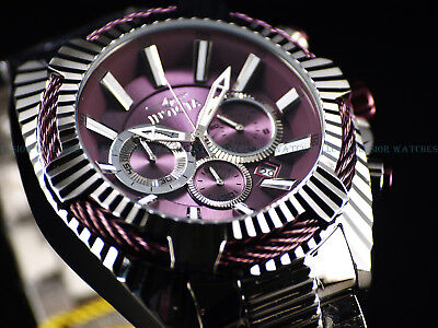 "Invicta Men's 50mm Bolt ""Purple Coffee"" Chronograph High Polished SS Tawny Watch"