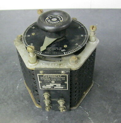 POWERSTAT SUPERIOR ELECTRIC 1226 VARIABLE TRANSFORMER 230/115V 2.5kva