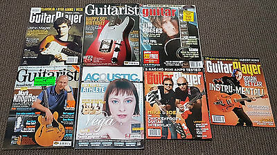 Guitar Magazines Various Issues Uk/us/australia 2001-2012 Lot Of 7