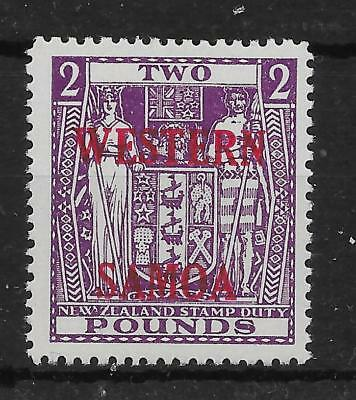 Samoa Sg235 1955 £2 Bright Purple Arms Mtd Mint
