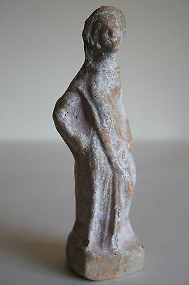 ANCIENT GREEK POTTERY HELLENISTIC TERRACOTTA FIGURE of a FEMALE 3rd CENTURY BC