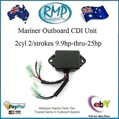 A Brand New CDI Unit Suits Mariner 9.9hp-thru-25hp 2cyl 2/Stroke # R 43077M