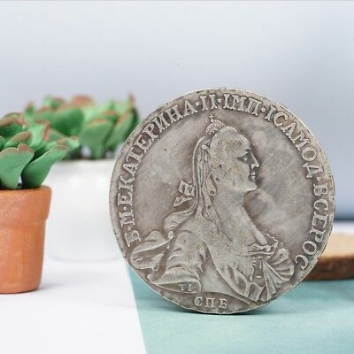 1766 Russian Head Picture Commemorative Alloy Coin Crafts Collection/