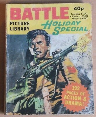 BATTLE PICTURE LIBRARY 1980 Holiday Special Comic, 192 pages, 40p cover price.