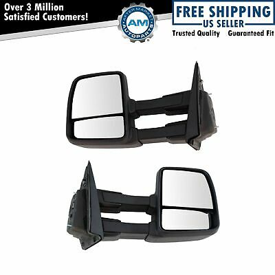Towing Mirror Power Textured Black Pair Set of 2 for Ford F150 New