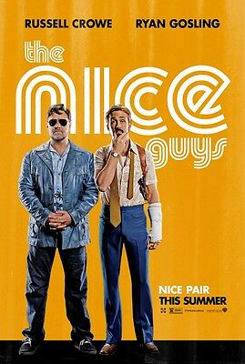 Nice Guys - original DS movie poster - 27x40 D/S Advance Gosling, Crowe