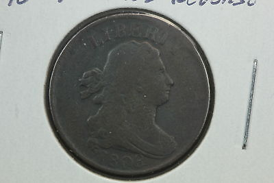1808 Half Cent VG Rotated Reverse Mint Error