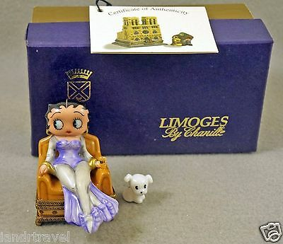 New In Original Box Chanille French Limoges Box Betty Boop With Cute Dog Pudgy