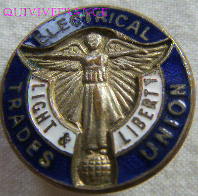 Bg6334 - Insigne Badge Electrical Trades Union - Union Syndicale Electricite