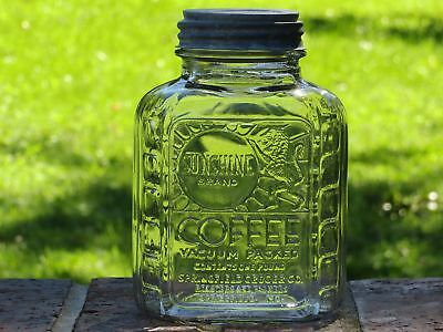 Vintage Sunshine Coffee Jar Quart Canning Jar Zinc Lid