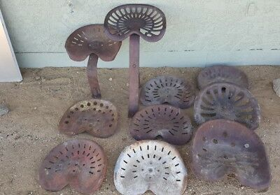 Vintage Antique Mccormick Deering Metal Tractor Seat Lot