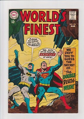 World's Finest #174 F+  DC comic Batman Superman 1968 Adams