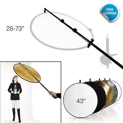 "5 Color Collapsible Reflectors 73.5"" Photography Photo Studio Holder Bar"