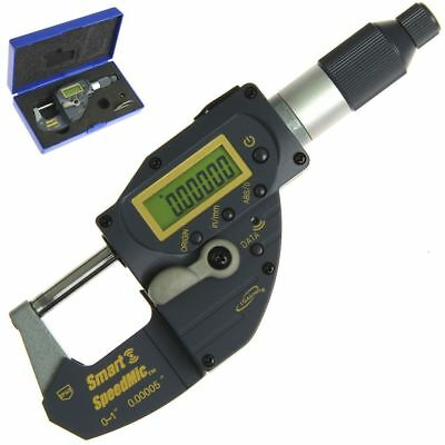 "Digital 1"" Micrometer Bluetooth Absolute Origin SpeedMic Quick Snap Lever Action"