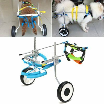 Pet Wheelchair Handicapped Puppy Cat Dog Disabled Hind Leg Stainless Steel 5''