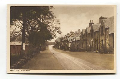 Strathyre - East End - road, houses - old Perthshire postcard