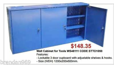 Wall Mount HANGING TOOL BOX / CABINET With Lock Garage Workshop Home Storage 20g