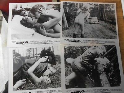 4 x Whirlpool adult movie FOH lobby card photos 1970