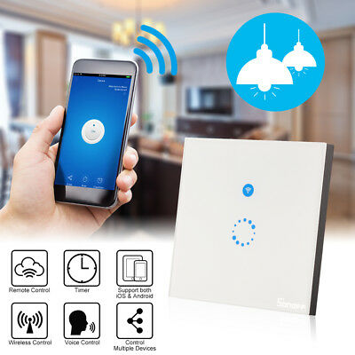 Sonoff Smart WiFi App Wall Light Touch Glass Panel Timing Switch EU Plug LD1220