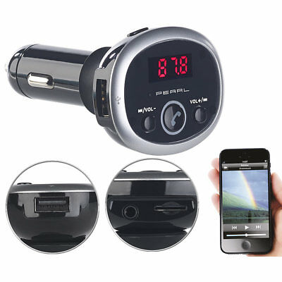 auvisio MP3-FM-Transmitter mit Bluetooth, Freisprecher, USB-Port, für 12/24 V