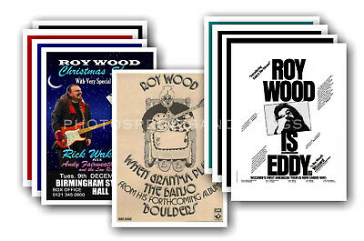 ROY WOOD / WIZZARD  - 10 promotional posters - collectable postcard set # 1