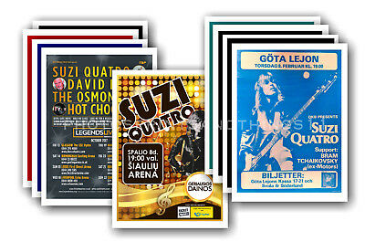 SUZI QUATRO  - 10 promotional posters - collectable postcard set # 1