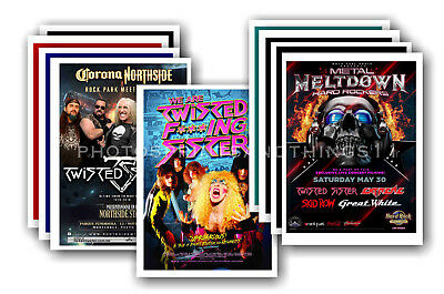 TWISTED SISTER  - 10 promotional posters - collectable postcard set # 1