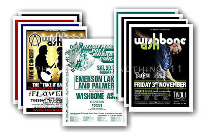 WISHBONE ASH - 10 promotional posters - collectable postcard set # 1