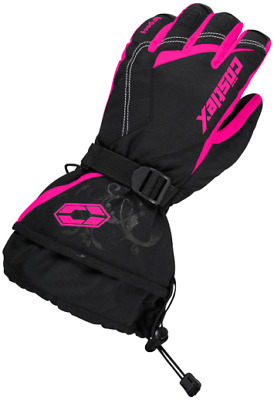 Castle X Womens Legacy Snowmobile Gloves Pink Glo