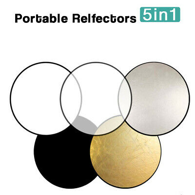 "22""(55.88cm) 5 in 1 Pop-Up Photo Video Studio Multi Disc Collapsible Reflector"
