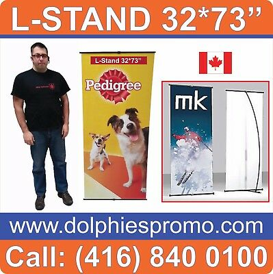 """LOT OF 30 - Trade Show Banner L Stands Systems Displays 32*73"""" (Hardware ONLY)"""