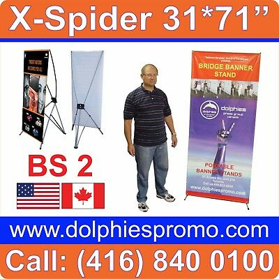 """LOT OF 10 - Trade Show Banner X Stands Systems Displays 31*71"""" (Hardware ONLY)"""