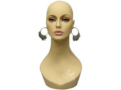 Female Mannequin Head Bust Wig Hat Jewelry Display #MD-HelenF1