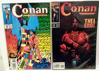 Conan the Barbarian 275 The End Final Issue and 274 Low Print Run Marvel1993 HTF
