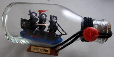 Pirate Ship JOLLY ROGER Ship in A Bottle Model Tall Ships Home Decor Boat Gifts