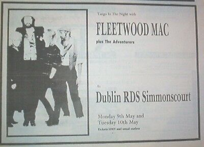 FLEETWOOD MAC Dublin 1988 UK Press ADVERT 12x8 inches