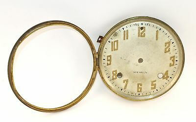 VINTAGE NEW HAVEN CLOCK DIAL PAN, BEZEL w/ NO GLASS - KC268