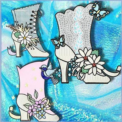 Fancy Boots  12  Machine Embroidery Designs Cd 3 Sizes