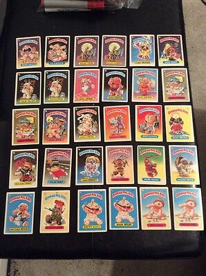 30 1985 first series unused garbage pale kids cards