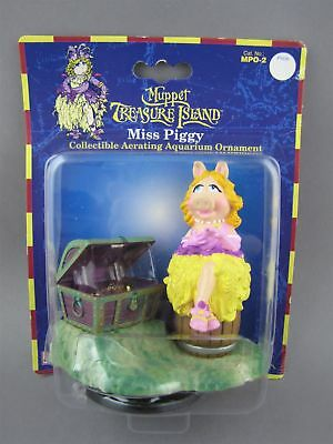 Miss Piggy Aquarium Ornament Aerating Treasure Chest Muppets