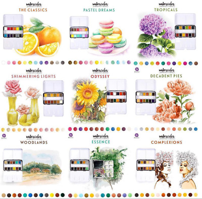 Prima Watercolour Confections Water Colour Paints - 12 Pan Sets