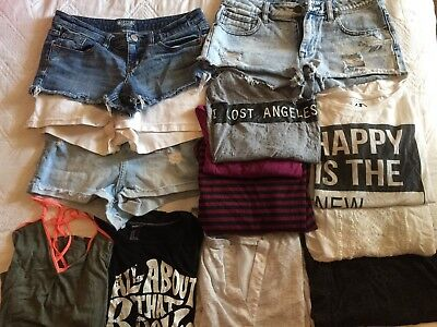 Women's lot of 13 items, shorts and tops, American Eagle, Forever 21, size S-m