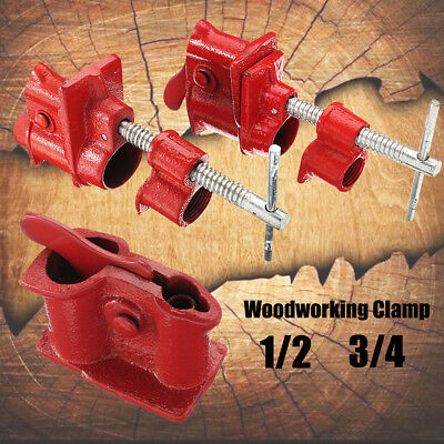 Heavy Duty Quick Release 1/2'' 3/4'' Woodworking Gluing Cast Iron Pipe Clamp